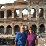 Aaron's Mom and Dad at the Colosseum