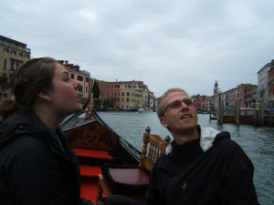 Christy and Aaron on the gondola ride