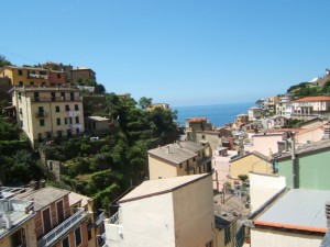 View from our apartment in Riomaggiore