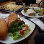 Ham Baguette and Chicken Wrap in Richmond Pub