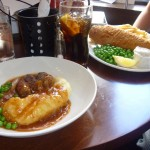 Sausage and Mash, Fish and Chips, in a London Pub