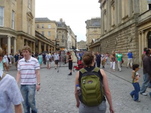 Christy walking around Bath