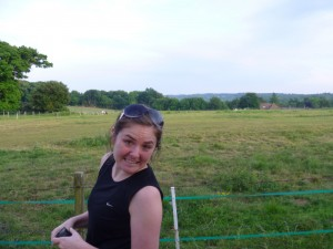 Christy in front of the Pony field