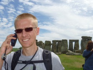 Aaron at Stonehenge
