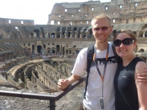 Aaron and Christy in the Colosseum
