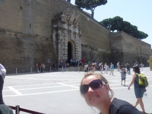 Christy in front of Vatican City