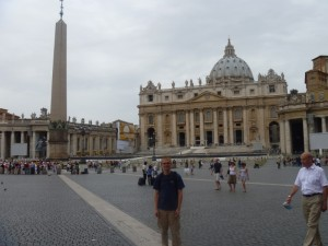 Aaron in St. Peter's Square