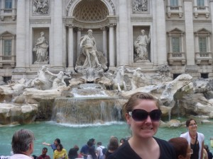 Christy at Trevi Fountain