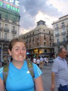 Christy in Puerta del Sol in Madrid