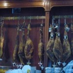 Other pic of Iberian ham. These are hanging in all restaurants and stores.