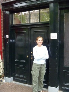 Christy at the Anne Frank house