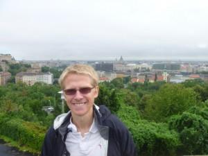 Aaron overlooking Budapest