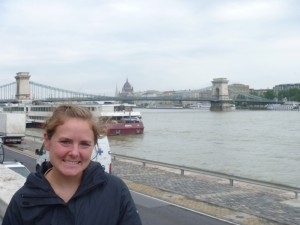 Christy at the Danube river bank