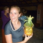 Christy with her Pinapple-O-Lantern