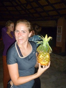 Christy with her Pineapple-O-Lantern