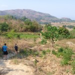 Christy on a 18 mile hike in Malawi