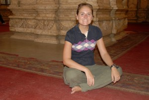 Christy in a mosque