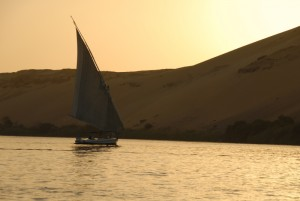One of the seven sunsets we got on the felucca boat