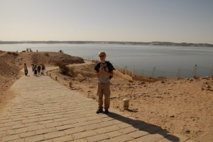 Aaron in front of Lake Nasser