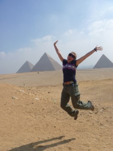 Christy excited to be at the pyramids