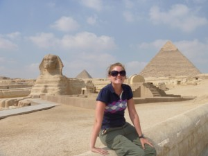 Christy with the Sphinx