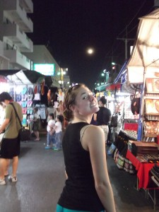Christy in the night market