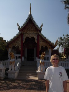Aaron at a Buddhist temple